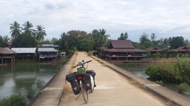 The bridge from Don Det to Don Khon