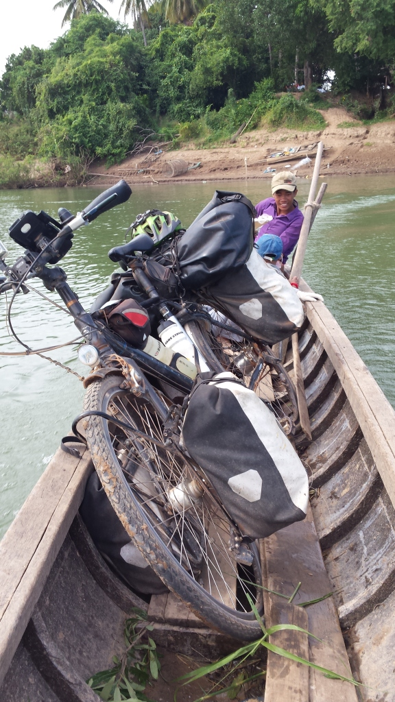 My humble mode of transport across the Mekong