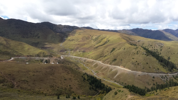 View from the top of the pass