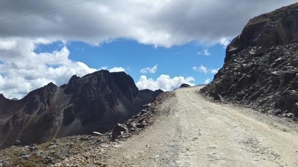 Steep road up