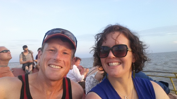Lynda and I on the Tonle Sap lake
