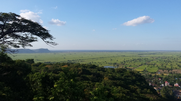 View over the Cambodian plains