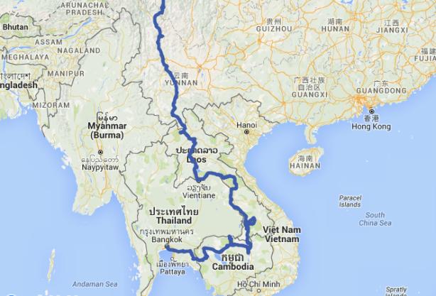 The approach into Bangkok