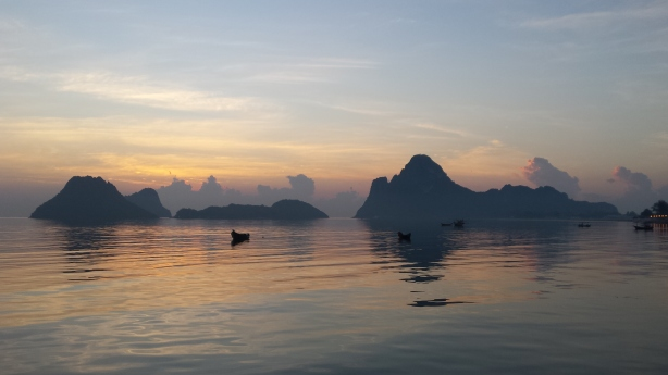 Sunrise at Prachuap Khiri Khan