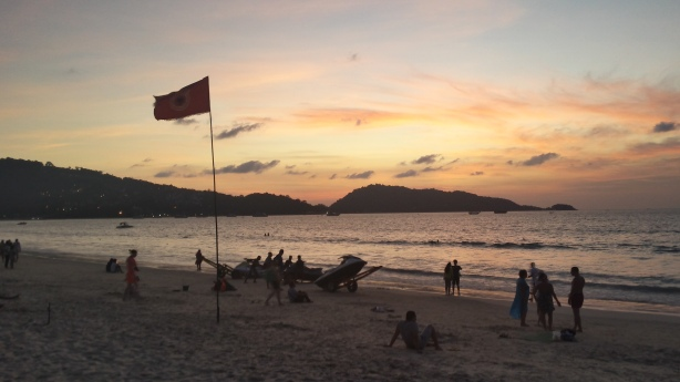 Sunset at Patong Beach