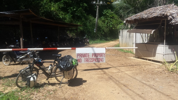 No Trespassing! Paradise Resort at Koh Yao Noi.