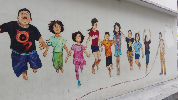Wall mural, Ipoh