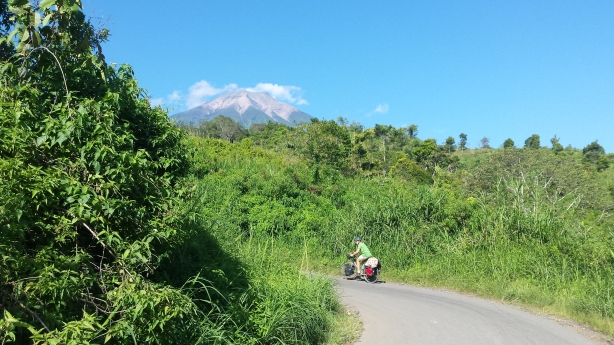 Towards the volcano