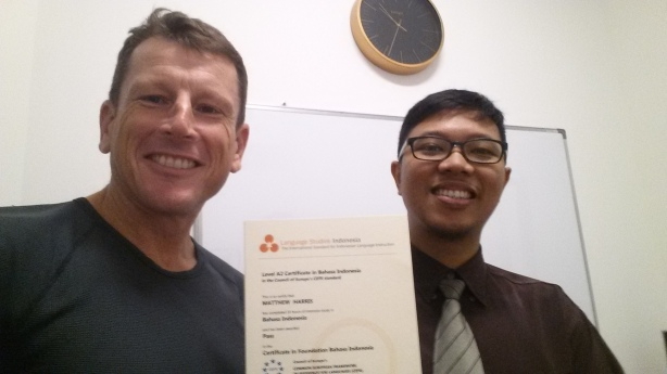 Pak Dion and my certificate