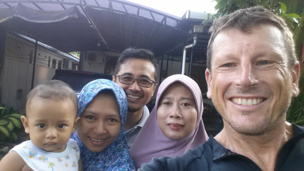 Alfian and his family in Cilacap