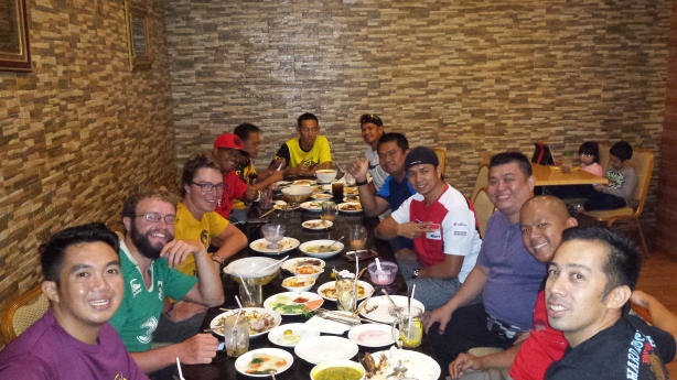 A wonderful dinner with the Brunei cycling team