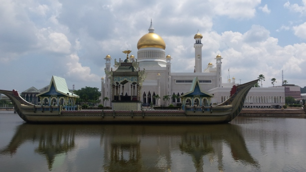 The mosque in Bandar Seri Begawan