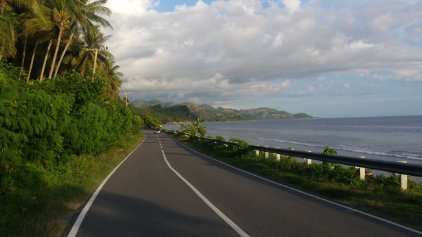 The coastal road