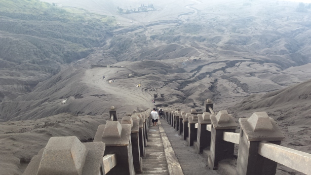 Stairway down from Bromo