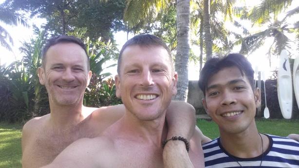 John, David and me