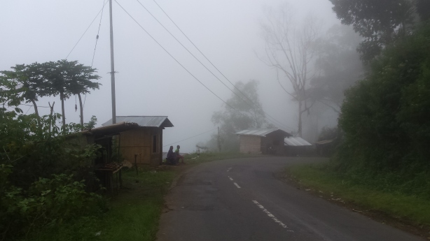 Road in the cloud