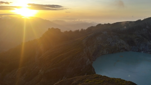 Sunrise at Kelimutu