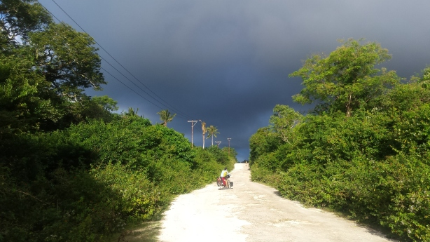 Towards the dark clouds