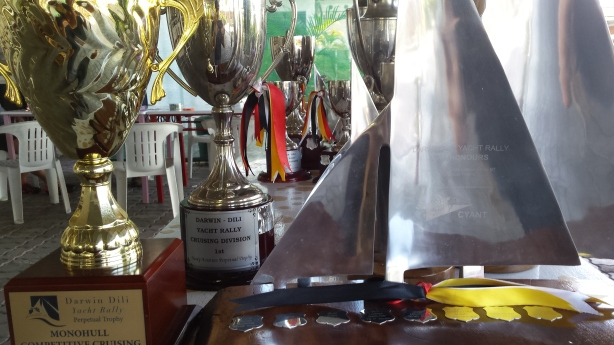 Darwin to Dili trophies