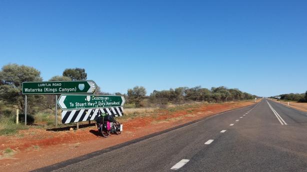 The road to Uluru