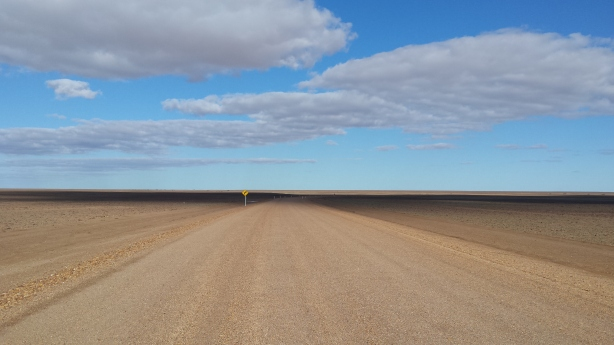 The road to Coober Pedy