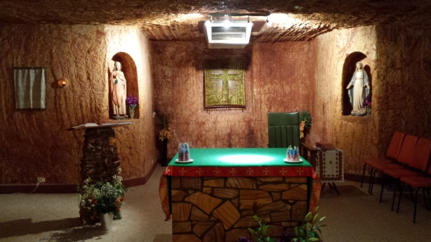 Underground church in Coober Pedy