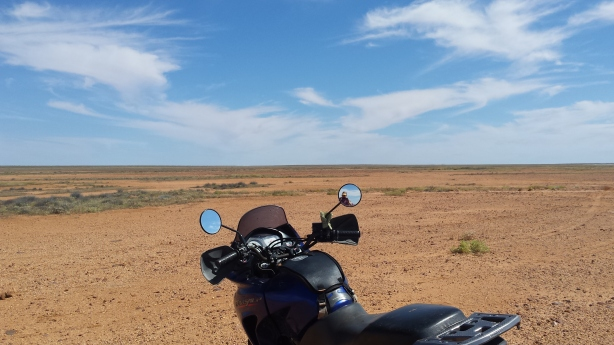 Stranded motorbike