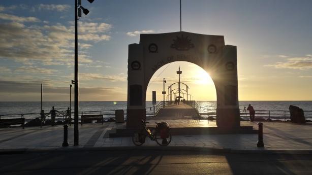 Brighton at sunset