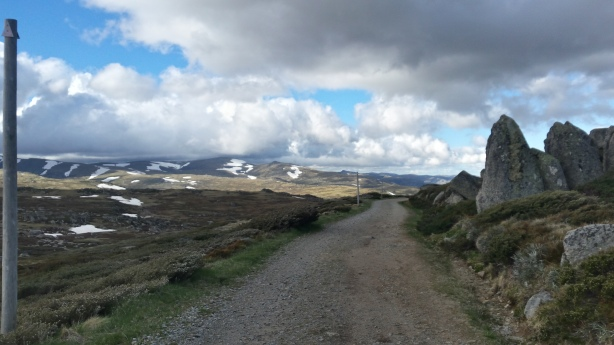 Road down to Charlotte's Pass