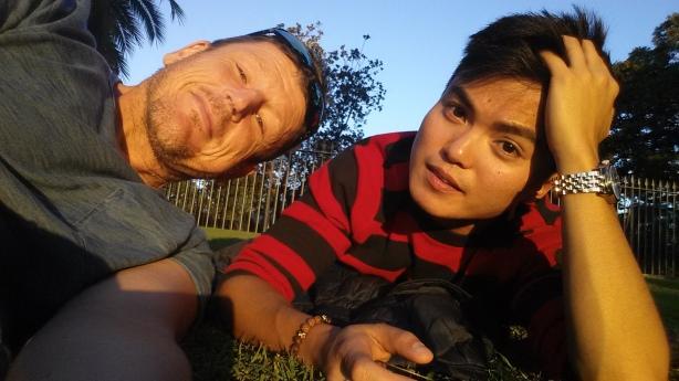 Me and Aaron.