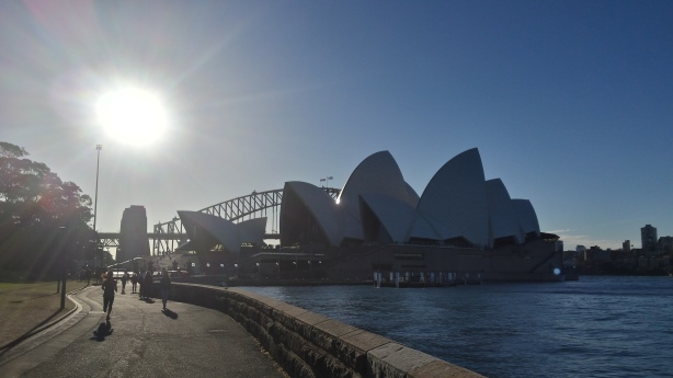 I ran past the opera house a lot.