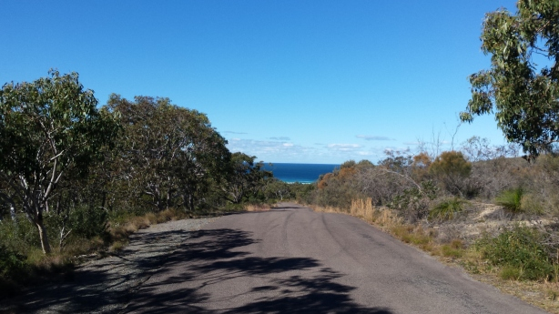 The road to Frazer Beach