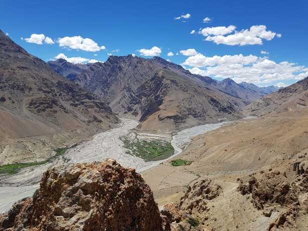 View from the Dhankar monastery