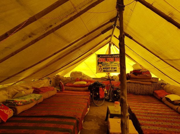 My tent at Zing Zing Bar