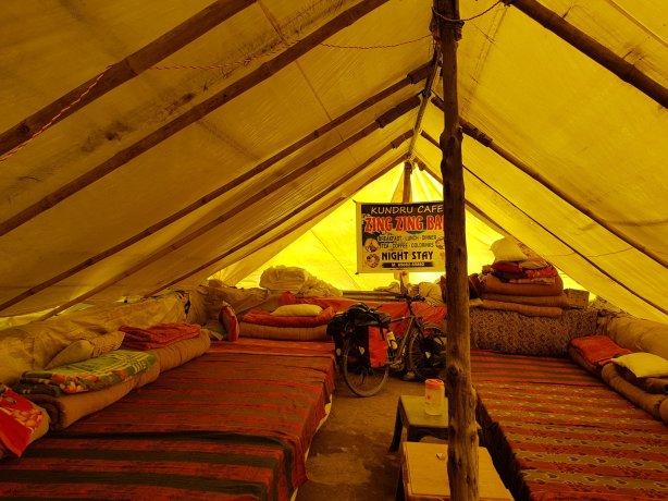 My tent at Zing Zing Bar