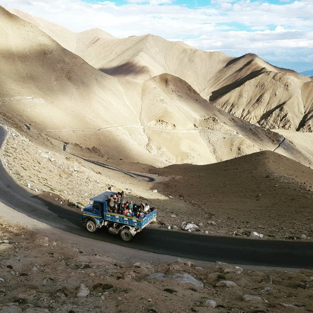 Coming down from Khardung La