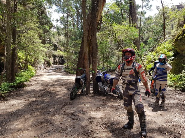 The bikers near Baal Bone Gap