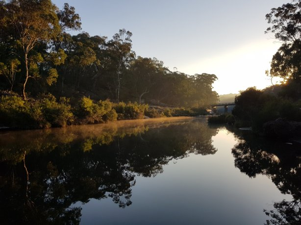 The Bargo River just after sunrise