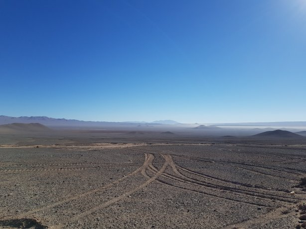 The nothingness of the Atacama Desert