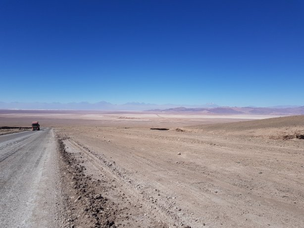 View out over Laguna de Atacama