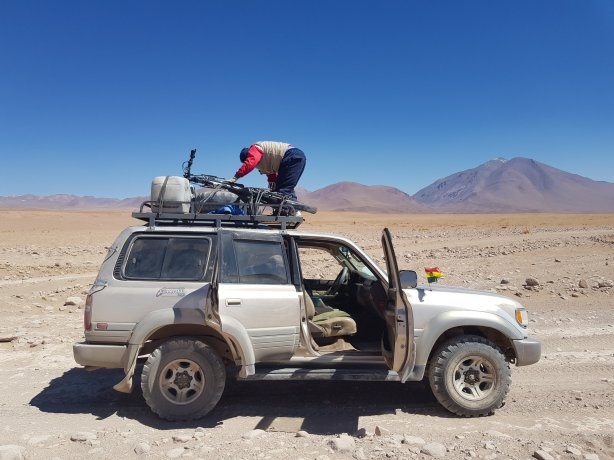 Drop off near Laguna Colorada