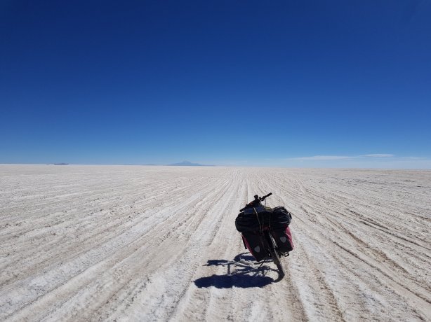 Bike on the Salar