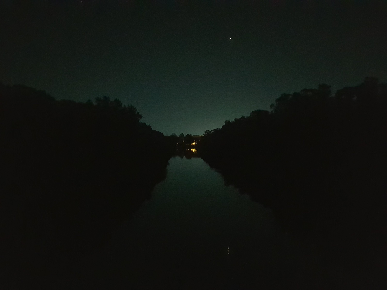 Cooks River in the dark